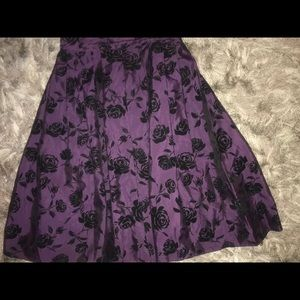 Dresses & Skirts - Purple flared skirt